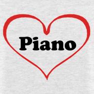 Design ~ I Love Piano T-Shirt