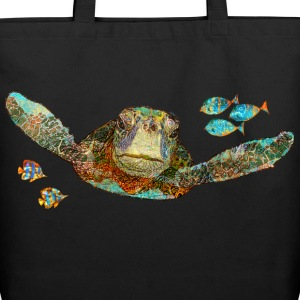 Flying Sea Turtle - Eco-Friendly Cotton Tote