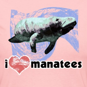 I Love Manatees - Women's Long Sleeve Jersey T-Shirt
