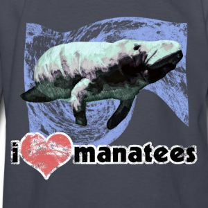 I Love Manatees - Kids' Long Sleeve T-Shirt