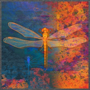 Flaming Dragonfly - Women's T-Shirt