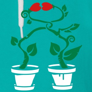Two potted plants in love Zip Hoodies/Jackets - Unisex Fleece Zip Hoodie by American Apparel