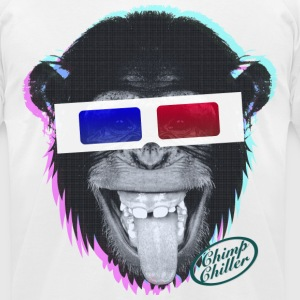 Chimp Chiller - 3D T-Shirts - Men's T-Shirt by American Apparel