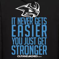 Design ~ Stronger | CutAndJacked | Mens hoodie (back Print)