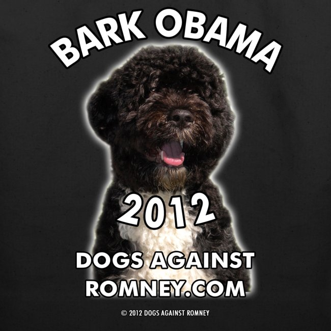 "Official Dogs Against Romney ""Bark Obama 2012"" Tote (2-Sided!)"