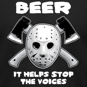 Beer Helps Stop The Voices  - Men's T-Shirt by American Apparel
