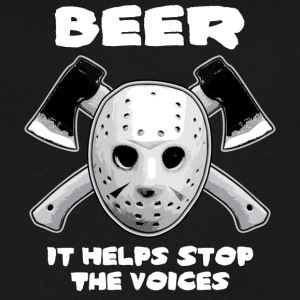 Beer Helps Stop The Voices  - Men's V-Neck T-Shirt by Canvas