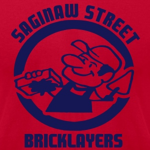 Saginaw St. Bricklayers T-Shirts - Men's T-Shirt by American Apparel