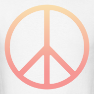Design ~ DIP DYE PEACE SIGN - MENS TSHIRT