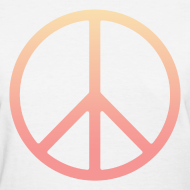 Design ~ DIP DYE PEACE SIGN - LADIES TSHIRT