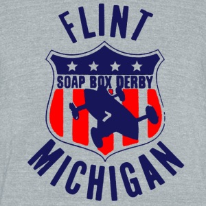 Flint Soap Box Derby T-Shirts - Unisex Tri-Blend T-Shirt by American Apparel