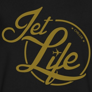 Chiller Jet Life T-Shirts - Men's V-Neck T-Shirt by Canvas
