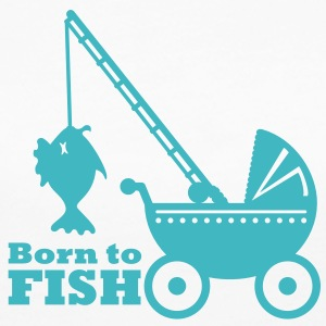 born to fish (pram, 1c) Long Sleeve Shirts - Women's Long Sleeve Jersey T-Shirt