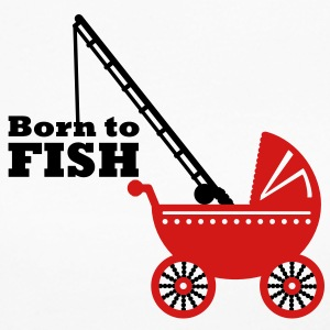 born to fish (pram, 2c) Long Sleeve Shirts - Women's Long Sleeve Jersey T-Shirt