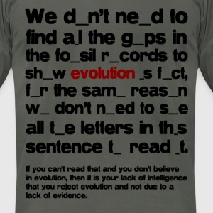 Evolution is Fact - Men's T-Shirt by American Apparel