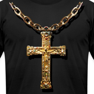 crucifix - Men's T-Shirt by American Apparel