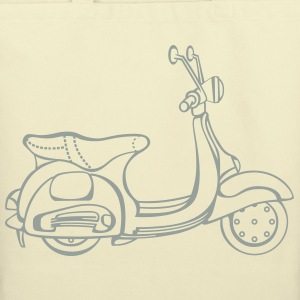 Vespa-Cream Tote - Eco-Friendly Cotton Tote