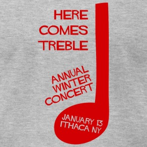 Here Comes Treble T-Shirt (Heather Gray) - Men's T-Shirt by American Apparel