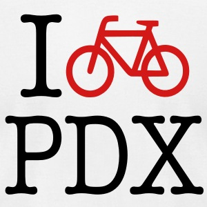I Bike PDX Men's T-shirt - Men's T-Shirt by American Apparel
