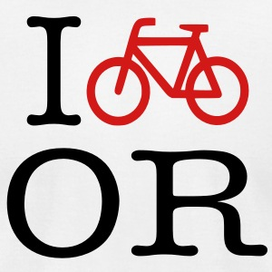 I Bike OR Men's T-shirt - Men's T-Shirt by American Apparel