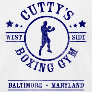 Cutty's Boxing Gym T-Shirt (White) - Men's T-Shirt by American Apparel