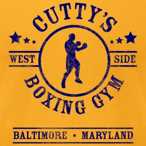 Cutty's Boxing Gym T-Shirt (Gold) - Men's T-Shirt by American Apparel