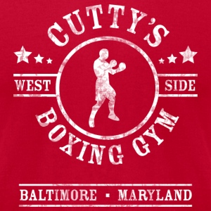 Cutty's Boxing Gym T-Shirt (Red) - Men's T-Shirt by American Apparel