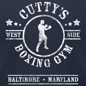Cutty's Boxing Gym T-Shirt (Navy) - Men's T-Shirt by American Apparel