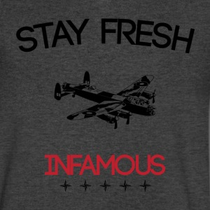 Stayfresh_Infamous T-Shirts - Men's V-Neck T-Shirt by Canvas