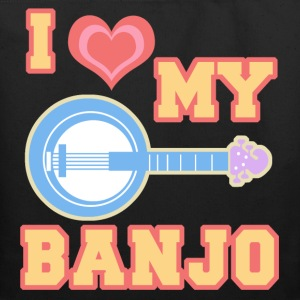 I Love My Banjo Tote Bag - Eco-Friendly Cotton Tote