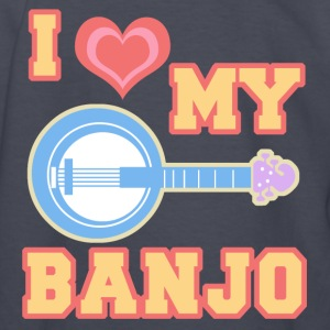 I Love My Banjo Kid's Long Sleeve T-Shirt - Kids' Long Sleeve T-Shirt