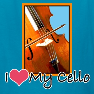 I Love My Cello Kid's T-Shirt - Kids' T-Shirt