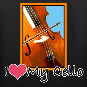 I Love My Cello Tote Bag - Eco-Friendly Cotton Tote