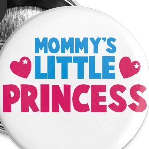 Mommy's little princess with cute love hearts Buttons - Small Buttons