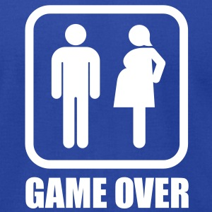Game over - pregnant T-Shirts - Men's T-Shirt by American Apparel