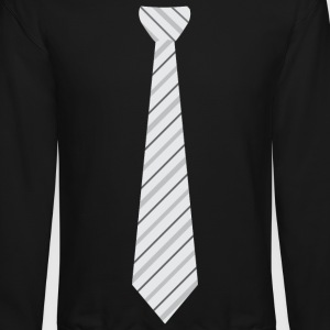 tie Long Sleeve Shirts - Crewneck Sweatshirt