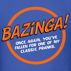 Bazinga! - white text - Men's T-Shirt