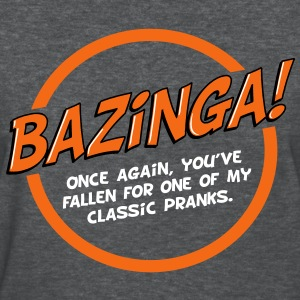 Bazinga! - white text - Women's T-Shirt
