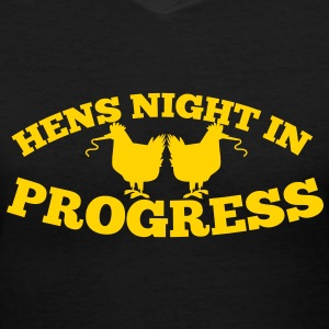 hens night in progress with party hens Women's T-Shirts - Women's V-Neck T-Shirt