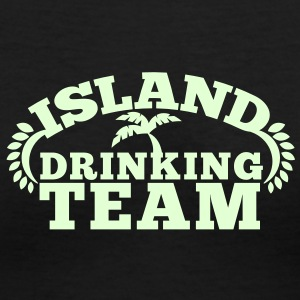 island drinking team great for a Holiday shirt Women's T-Shirts - Women's V-Neck T-Shirt