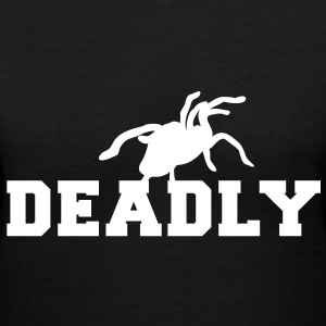 deadly tarantula spider Women's T-Shirts - Women's V-Neck T-Shirt