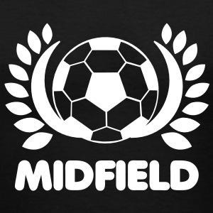 Soccer BALL MIDFIELD with leaves Women's T-Shirts - Women's V-Neck T-Shirt