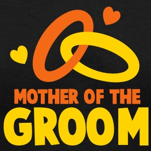 MOTHER OF THE GROOM Women's T-Shirts - Women's V-Neck T-Shirt