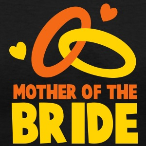 MOTHER OF THE BRIDE with cute love hearts and rings Women's T-Shirts - Women's V-Neck T-Shirt