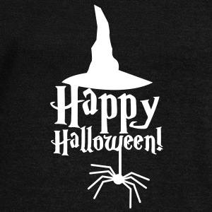 HAPPY HALLOWEEN with a spider and witches hat cute! Long Sleeve Shirts - Women's Wideneck Sweatshirt