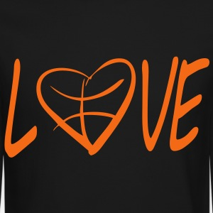 love basketball  Long Sleeve Shirts - Crewneck Sweatshirt
