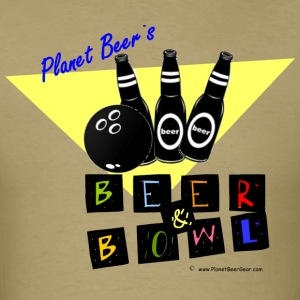 Planet Beer's Beer& Bowl T-Shirt - Men's T-Shirt