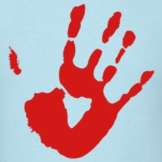 Bloody Hand Print - VECTOR T-Shirts