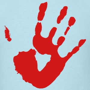 Bloody Hand Print - VECTOR T-Shirts - Men's T-Shirt