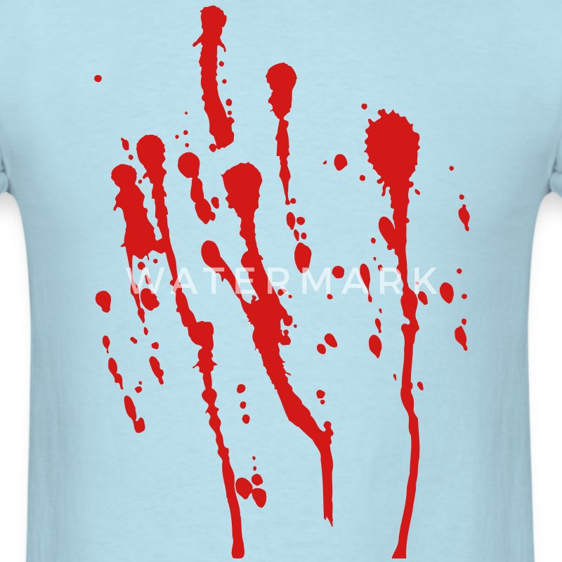 Blood Splatter - High Quality Vector T-Shirts - Men's T-Shirt